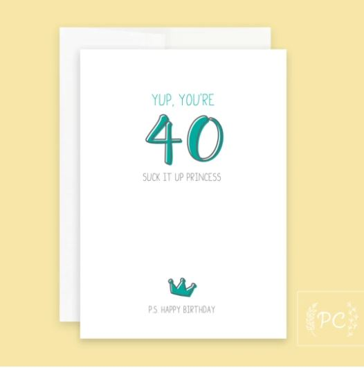 40 Princess Card - Prairie Chick Prints