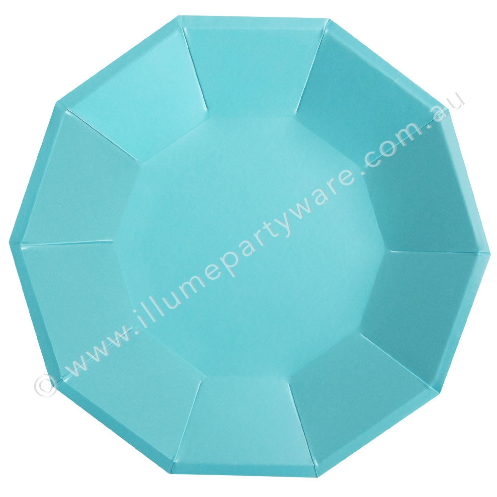 "Blue Foil Large Plate - Pack of 10 - 9"" (23cm) diameter"