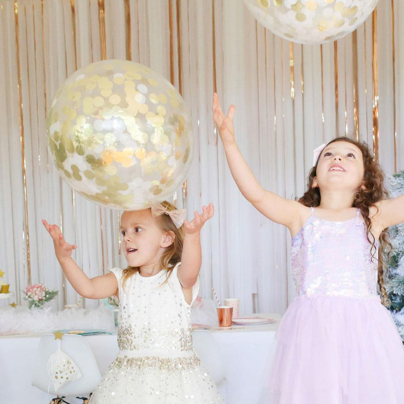 Confetti Balloons - Pack of 3 - Gold
