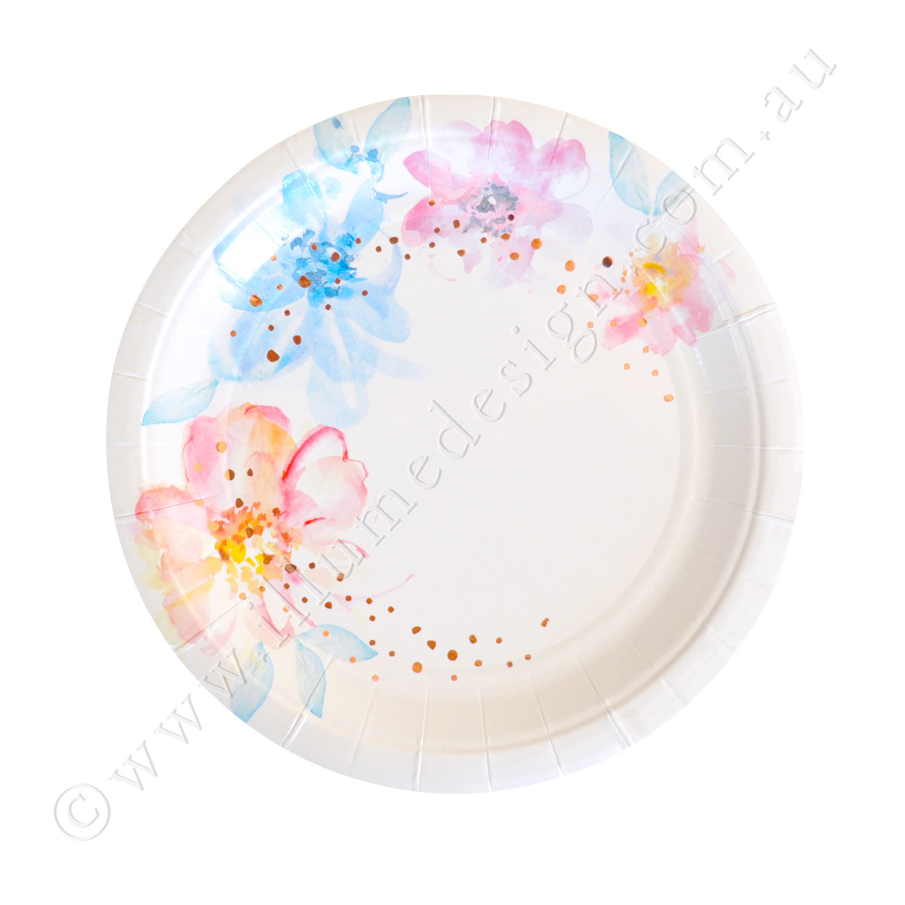 Floral Dessert Plate - Pack of 10
