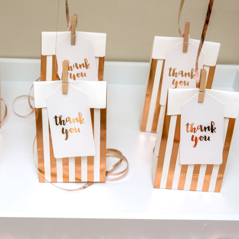Rose Gold Thank You Tags - Pack of 10