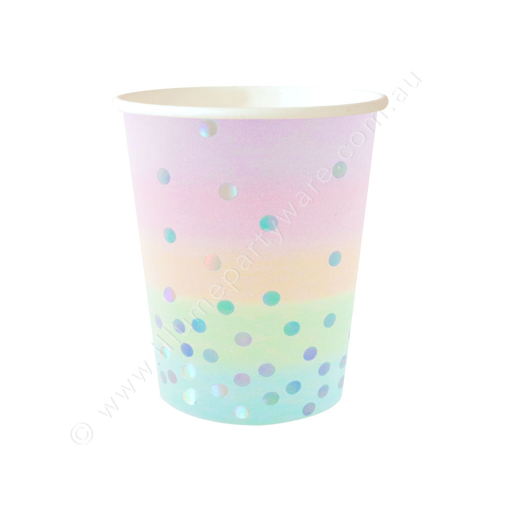 Iridescent Pastel Cup - Pack of 10 - 9OZ (300ml)