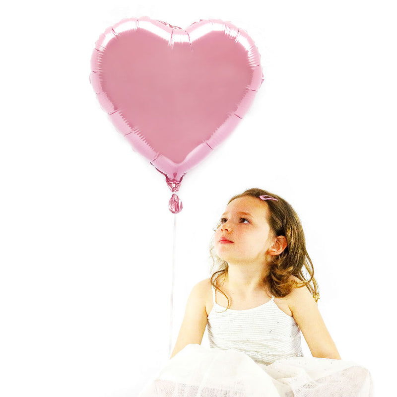 "Light Pink 18"" Foil Heart Balloon"