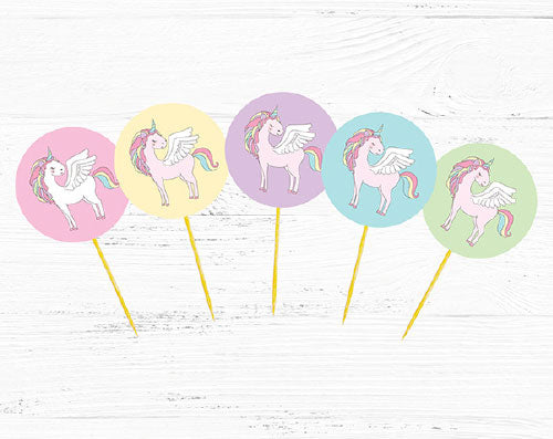 unicorn party diy cupcake toppers