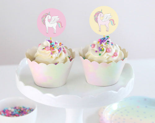 unicorn party cupcake toppers diy