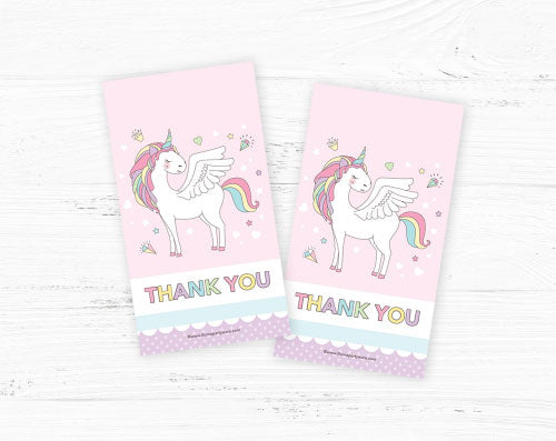 unicorn party favor gift tags diy