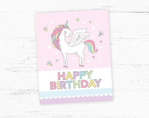 unicorn party poster diy