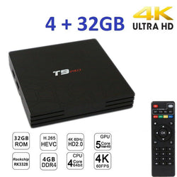 Smart TV BOX T9 PRO Android 7.1.2 4GB RAM 32GB 4K TV GPU 5 CORE QUAD WIFI