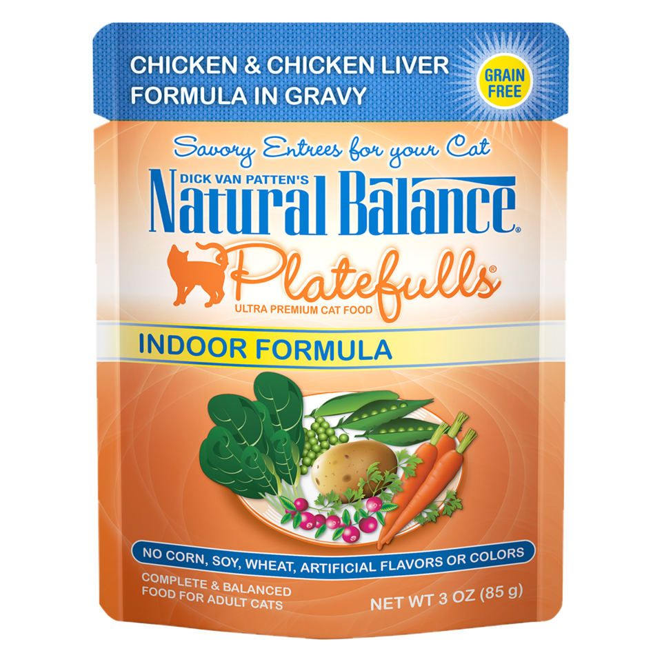 Platefulls® Indoor Chicken & Chicken Liver Formula in Gravy