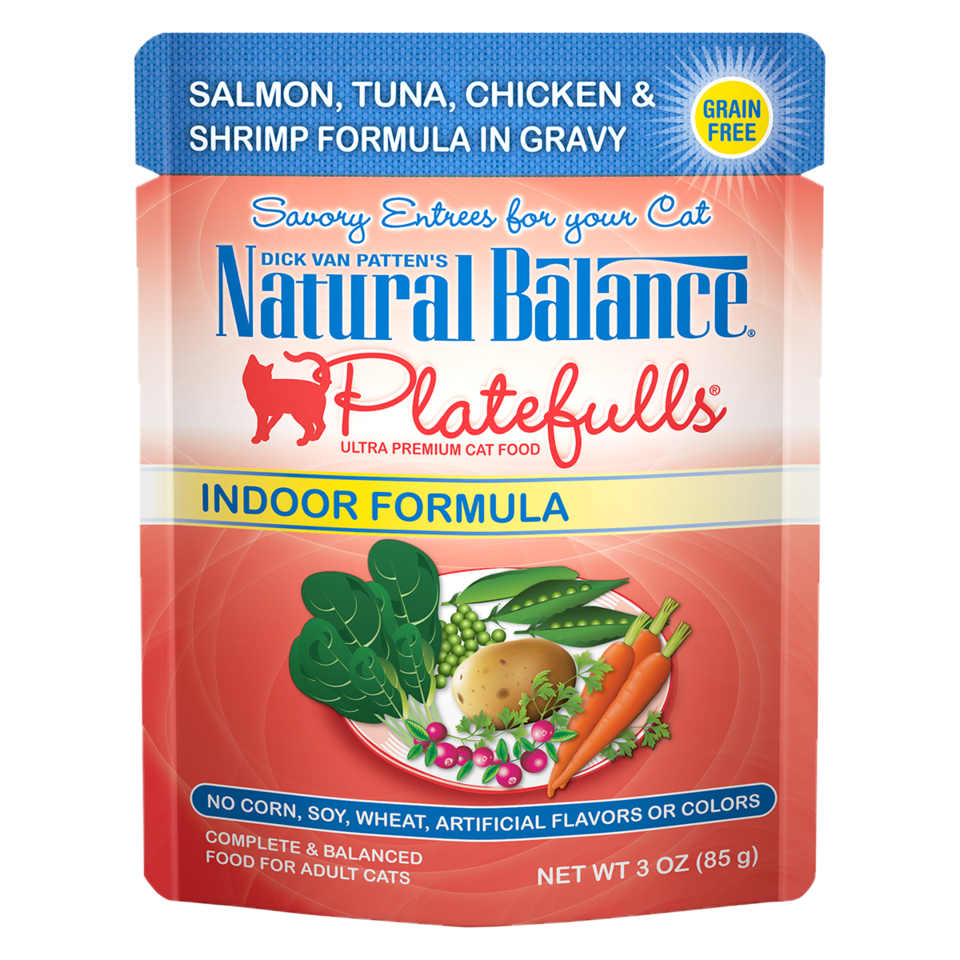 Platefulls® Indoor Salmon, Tuna, Chicken & Shrimp Formula in Gravy