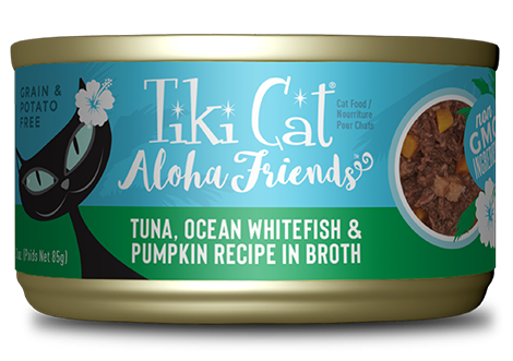Tiki Cat Aloha Friends Tuna, Ocean Whitefish & Pumpkin