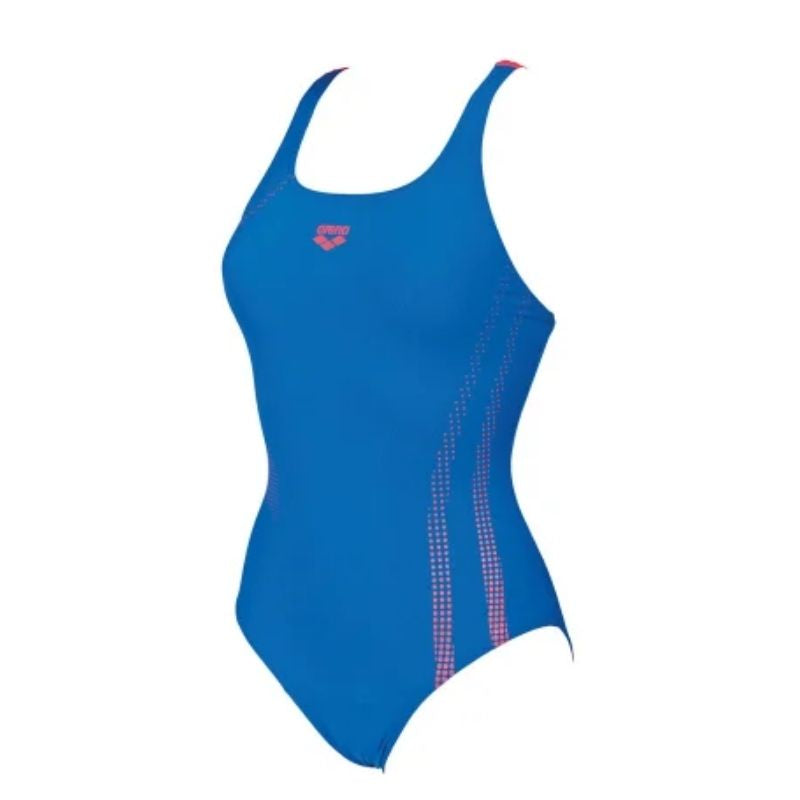 ONLY SIZE 32 - WOMEN'S SHADOW ONE-PIECE SWIMSUIT - ROYAL