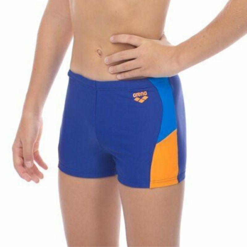ONLY SIZE 26 - BOYS' REN SHORTS - BLUE/TANGERINE