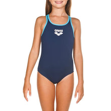 Load image into Gallery viewer, ONLY SIZE 26 - GIRLS' BIG LOGO ONE-PIECE SWIMSUIT - NAVY/BLUE