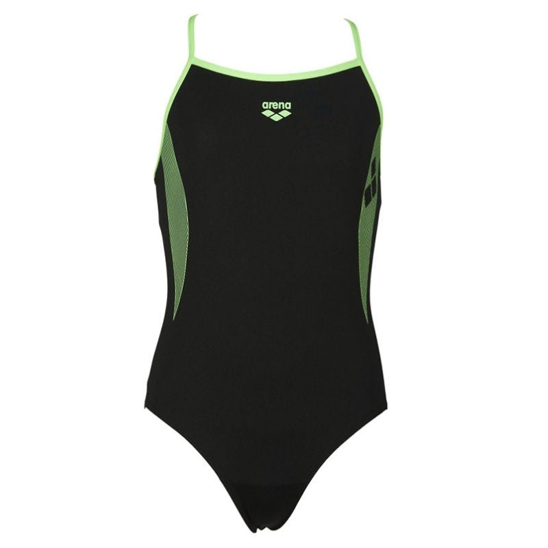 ONLY SIZE 26 - GIRLS' DEMETRA ONE-PIECE SWIMSUIT - BLACK