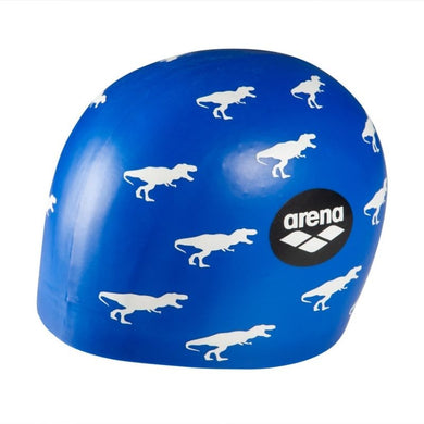 POOLISH MOULDED SWIMMING CAP - DINO BLUE (1E774-212U)