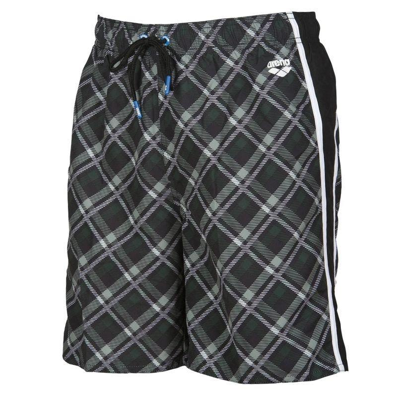 MEN'S PRINTED CHECK BERMUDA SWIM SHORTS