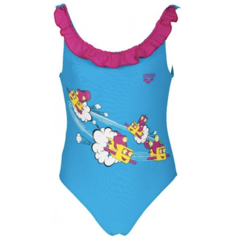 TODDLER GIRLS' ROUCHE ONE-PIECE SWIMSUIT
