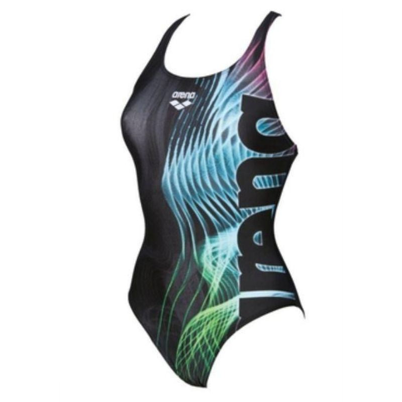 ONLY SIZE 32 - WOMEN'S SHADES SWIM PRO BACK - BLACK