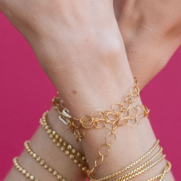 Gold Mango Chain Anklet