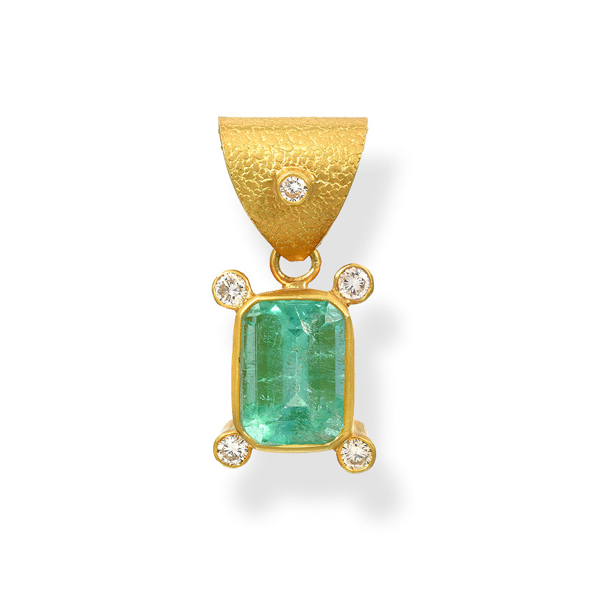 Colombian Emerald Diamond Pendant