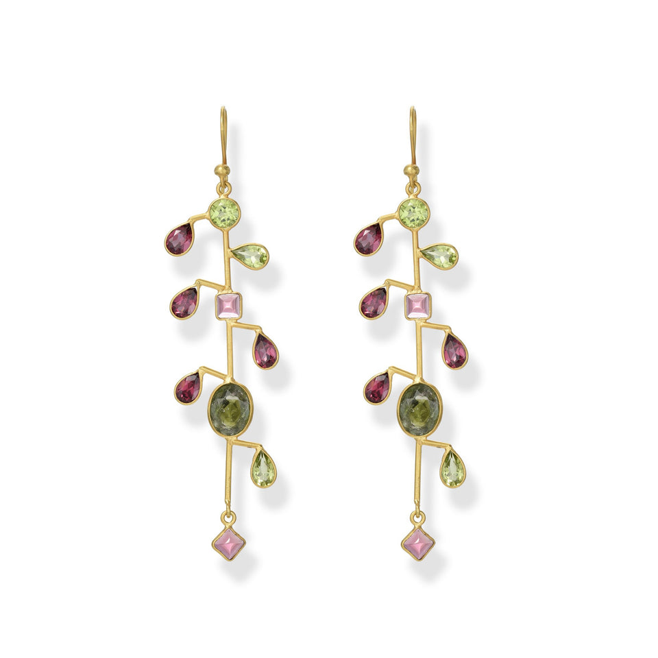Tourmaline Holiday Drop Earrings