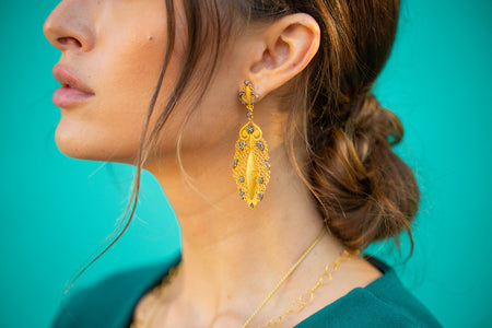 Hawa Leaf Earrings