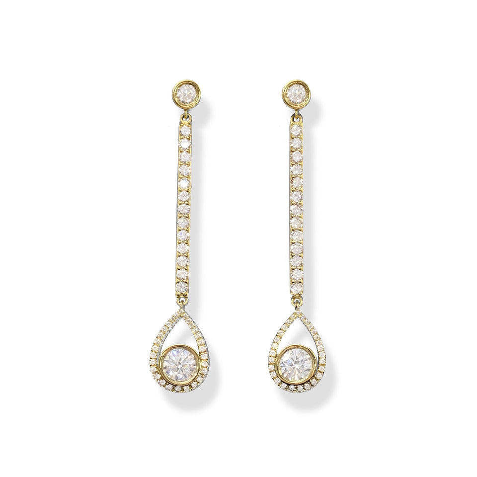 Diamond Drop Earrings by Angie Crabtree
