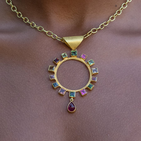 Circle of Protection Tourmaline Pendant