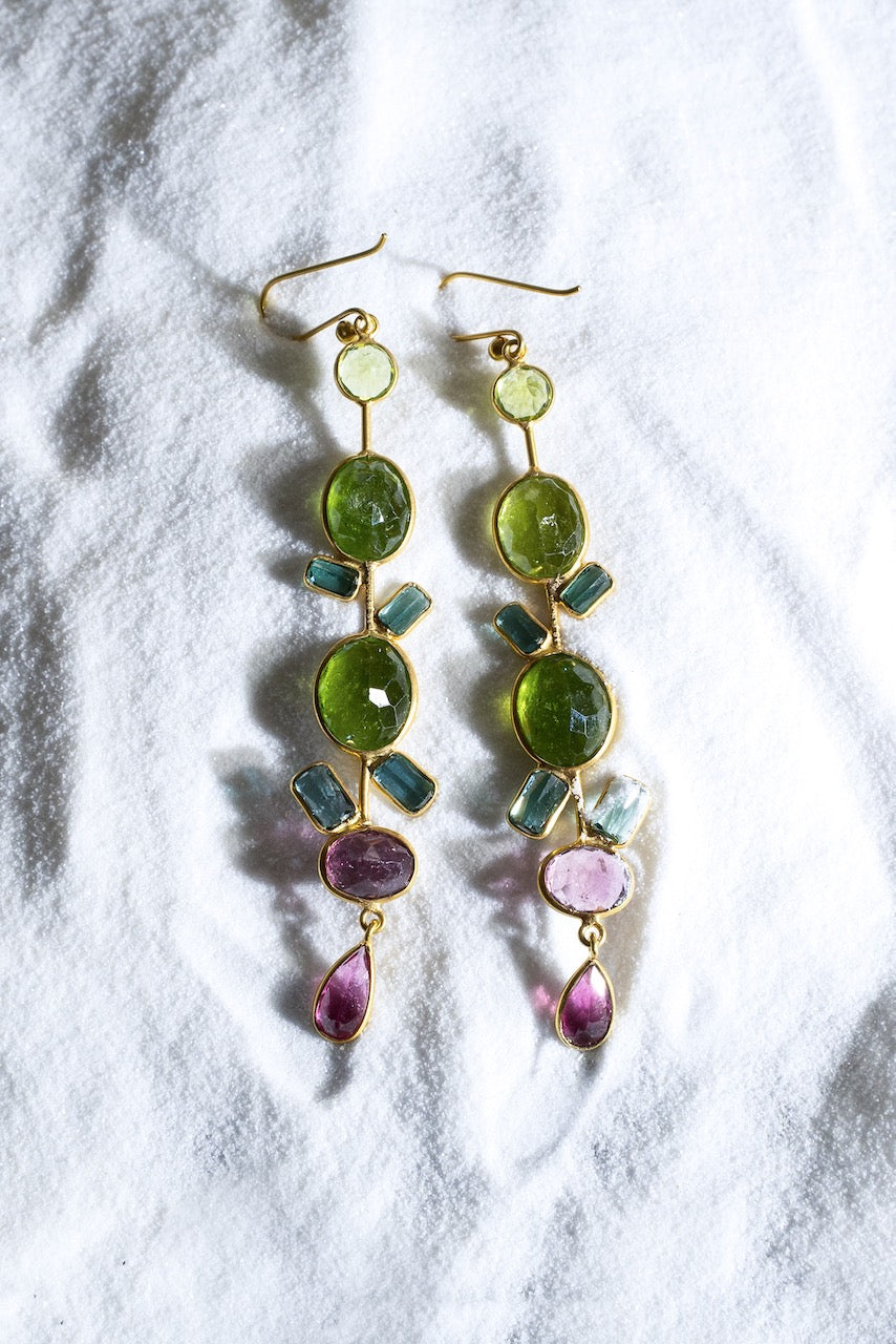 Tourmaline Party Earrings