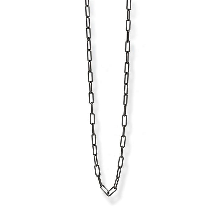 Oxidized Silver Medium Paperclip Chain
