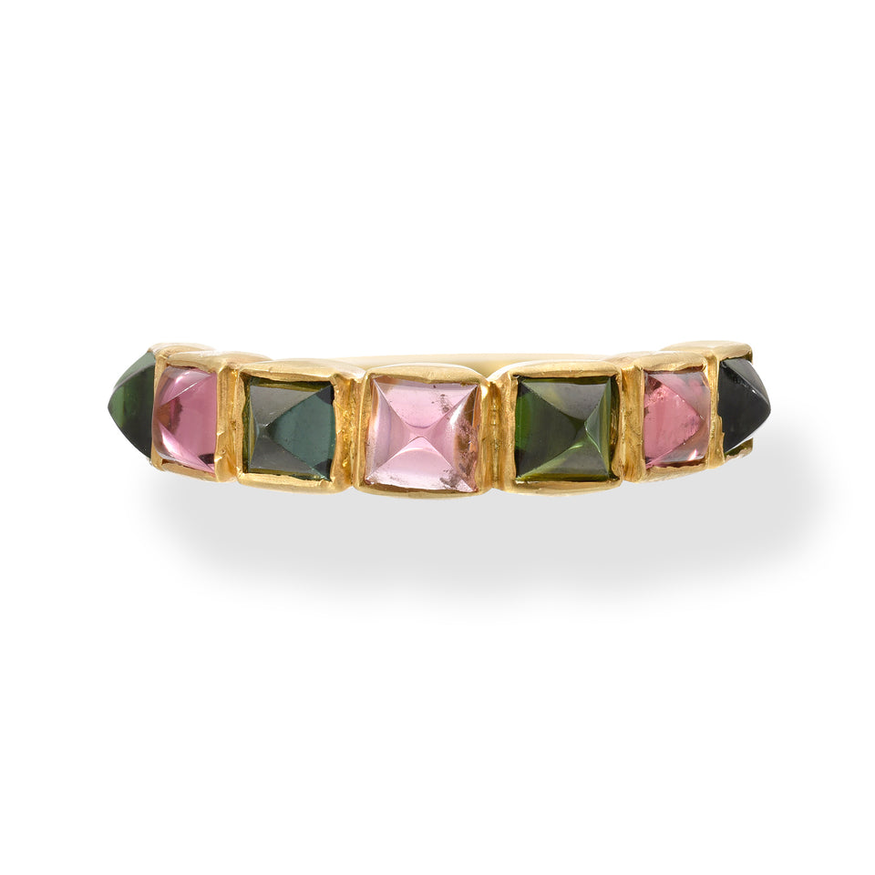 Green & Pink Tourmaline Ring