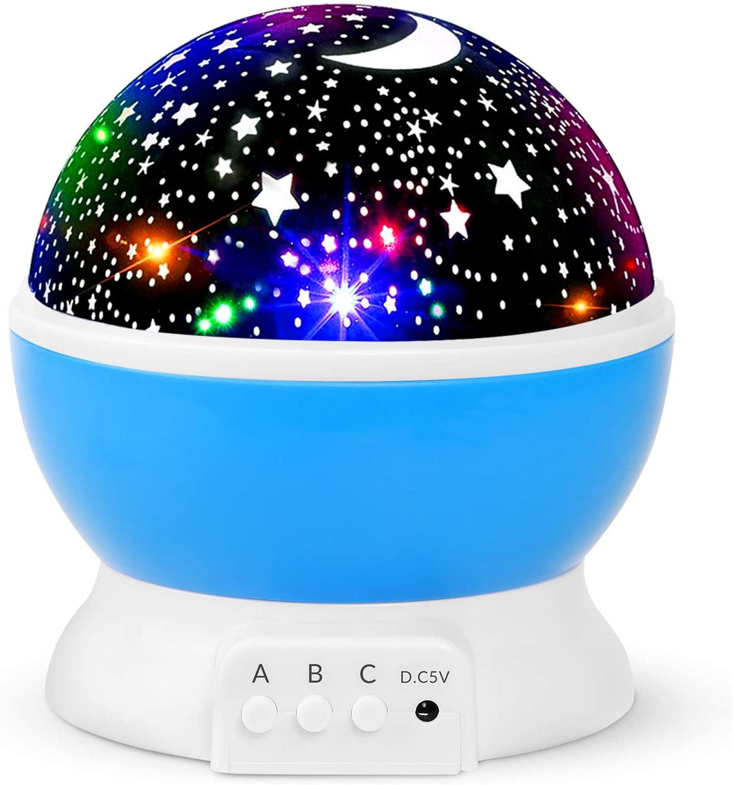 Moon Star Projector, Children Night Light Projector, iThrough Galaxy Projector Starry Sky Projector - Cordless Star & Moon Projector for Baby Room/Bedroom/Kids Room/Home Party