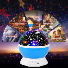 Load image into Gallery viewer, Moon Star Projector, Children Night Light Projector, iThrough Galaxy Projector Starry Sky Projector - Cordless Star & Moon Projector for Baby Room/Bedroom/Kids Room/Home Party