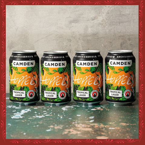 HOPPERS x CAMDEN TOWN BREWERY TROPICAL LAGER (4 PACK)
