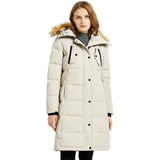 Load image into Gallery viewer, Orolay Women's Long Windproof Puffer Fur Hood Down Coat OWD1092X