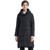 Load image into Gallery viewer, Orolay Women's Hooded Winter Two-Way Zipper Down Coat YRF9011W