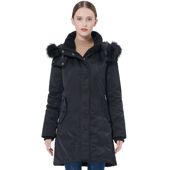 Orolay Women's Winter Removable Hood Down Jacket YRF2009S