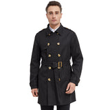 Load image into Gallery viewer, Orolay Men's Double Breasted Trench Coat with Removable Belt OMD5067X