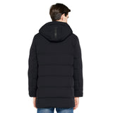 Load image into Gallery viewer, Orolay Men's Double Snap Winter Down Coat Thickened Jacket with Stand Collar OMD1126W