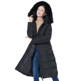 Load image into Gallery viewer, Orolay Women's Thickened Puffer Down Jacket Winter Hooded Coat YRF6005F