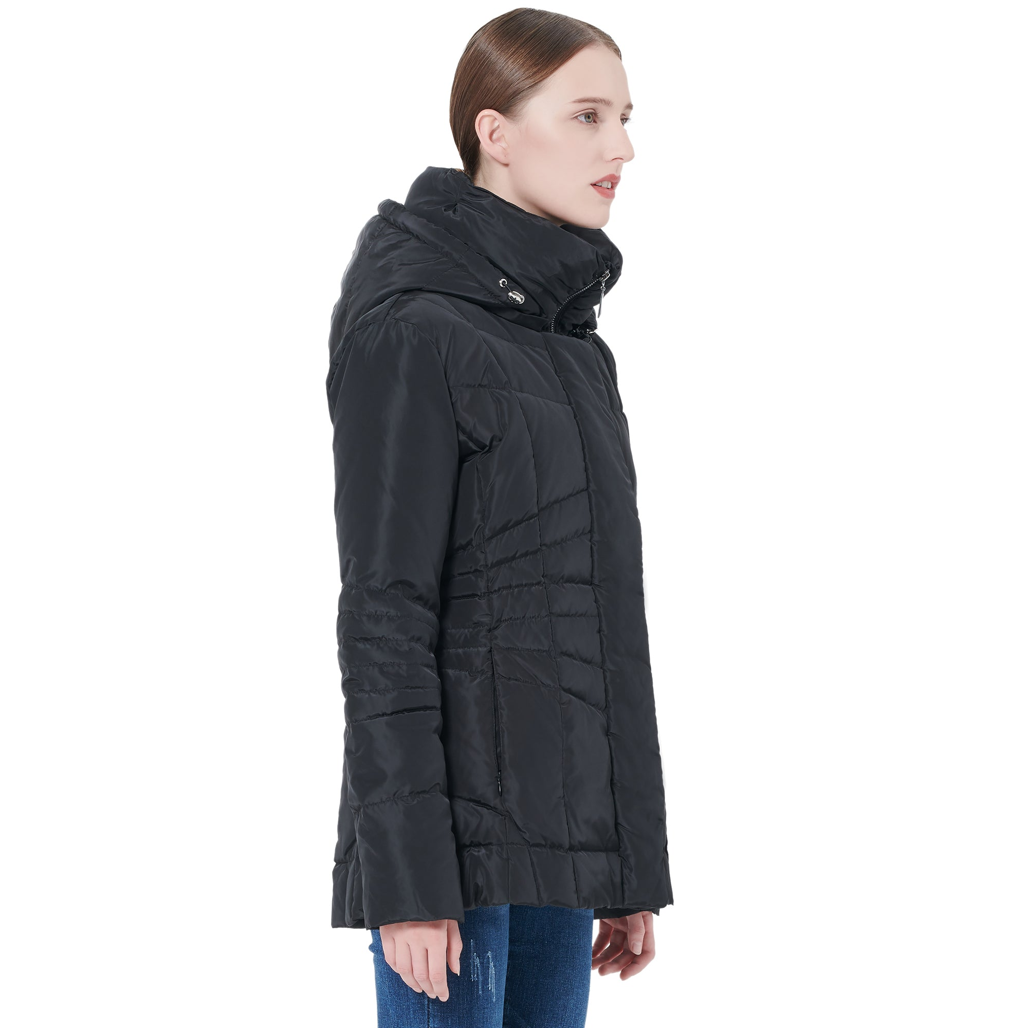 Orolay Women's Short Down Coat with Removable Hood YRF1021M