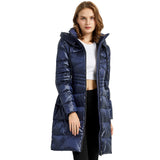 Load image into Gallery viewer, Orolay Women's Warm Stand Collar with Hood Down Parka OWD1080W