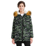 Load image into Gallery viewer, Orolay Women's Thickened Fur Hood Camouflage Down Coat YRF092MC