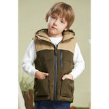 Load image into Gallery viewer, Orolay Kid's Color Block Hooded Puffer Gilet Down Vest OKD1072W