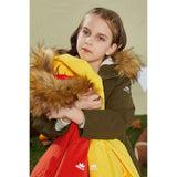 Laden Sie das Bild in den Galerie-Viewer, Orolay Kid's Thickened Winter Fur Hood Fleece Lined Parka OKD6078W