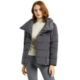 Load image into Gallery viewer, Orolay Women's Stand Collar Oblique Placket Puffer Coat OWD1088X