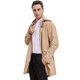 Load image into Gallery viewer, Orolay Men's Long Windbreaker Light Hooded Jacket Packable Outdoor Anoraks OMD5062W