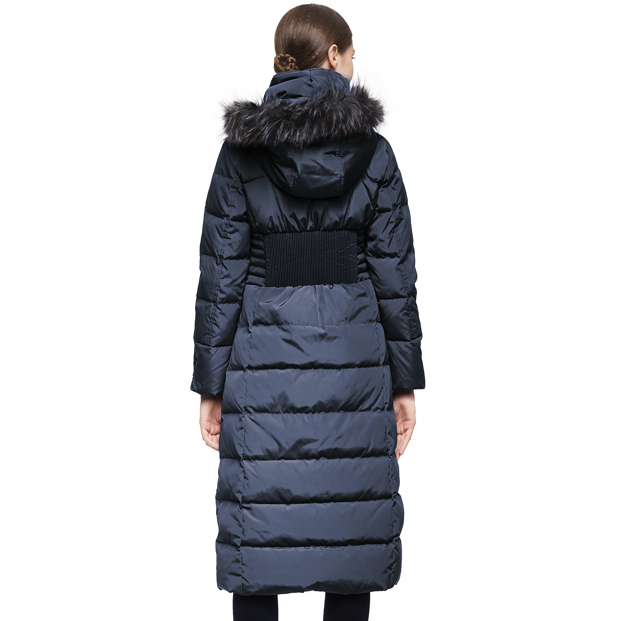 Orolay Women Warm Down Jacket with Hood Fur Raglan Sleeve Coat YRF8025Q