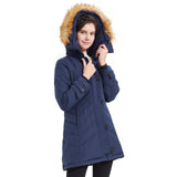 Load image into Gallery viewer, Orolay Women Mid-Length Button and Zipper Closing Down Coat YRF8038Q